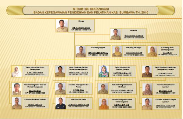 struktur organisasi BKD 2016